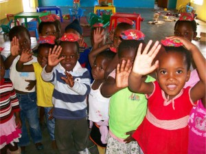 Children at the local Creche (Nursery School)