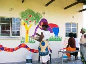 Refreshing the World—Painting a Mural on the School Wall