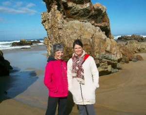 Judy and Jean, Garden Route Beach, South Africa